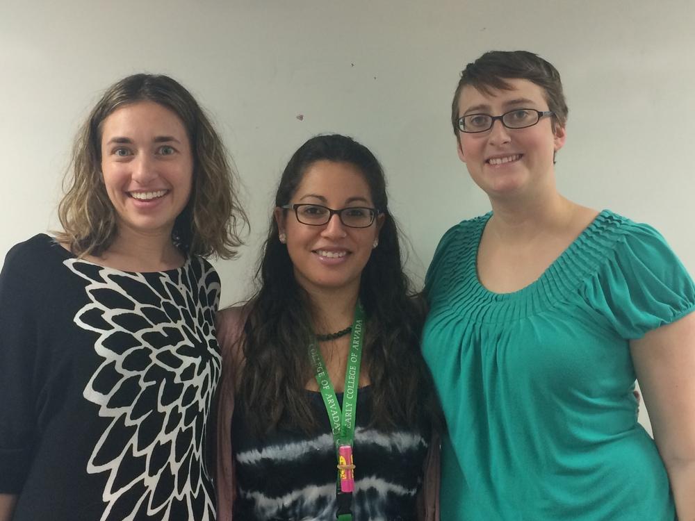 Teachers Erica Gross, Katie Gonzalez, and Caroline Fink