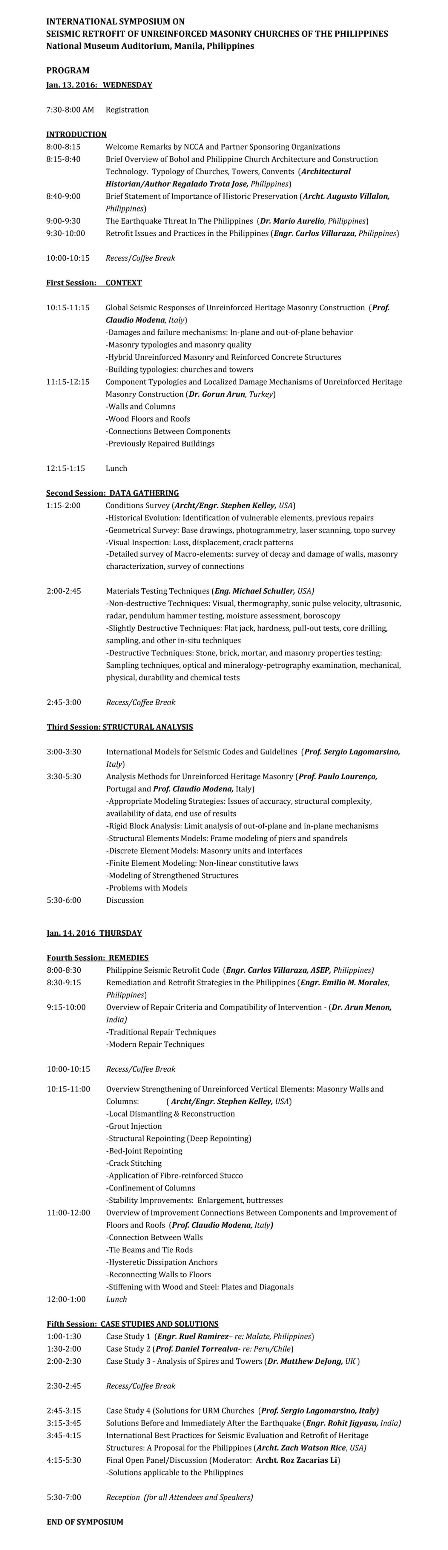 SYMPOSIUM PROGRAM-Revised