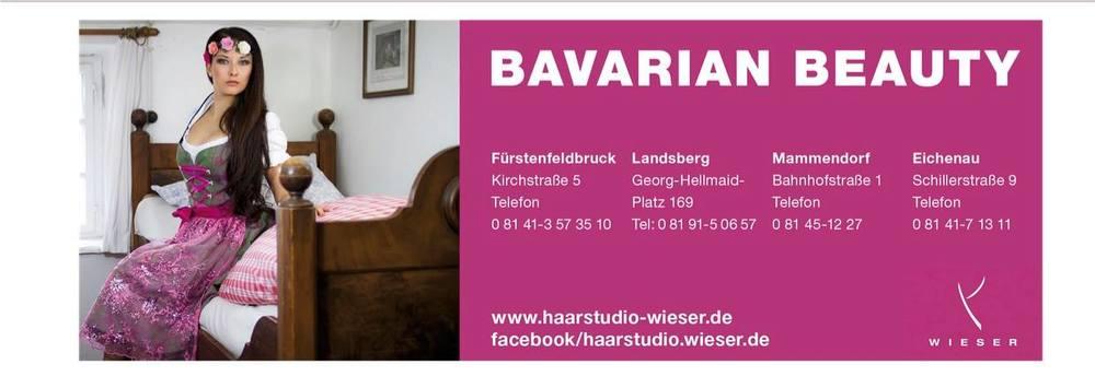 So geht PR-Anzeige in Bayern im Bavarian Beauty Style für Haarstudio Wieser.