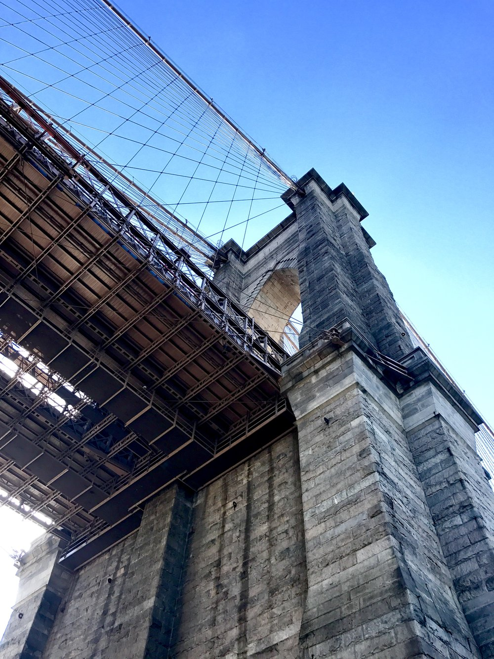 BROOKLYN BRIDGE MILLENNIALS - The bridge connects us toEverything, but wifiFails to bridge the gapThat matters, when we crossBack and forth —Between tall buildingsAnd small people, helplesslySearching for a signal —Fool's gold is out of range.