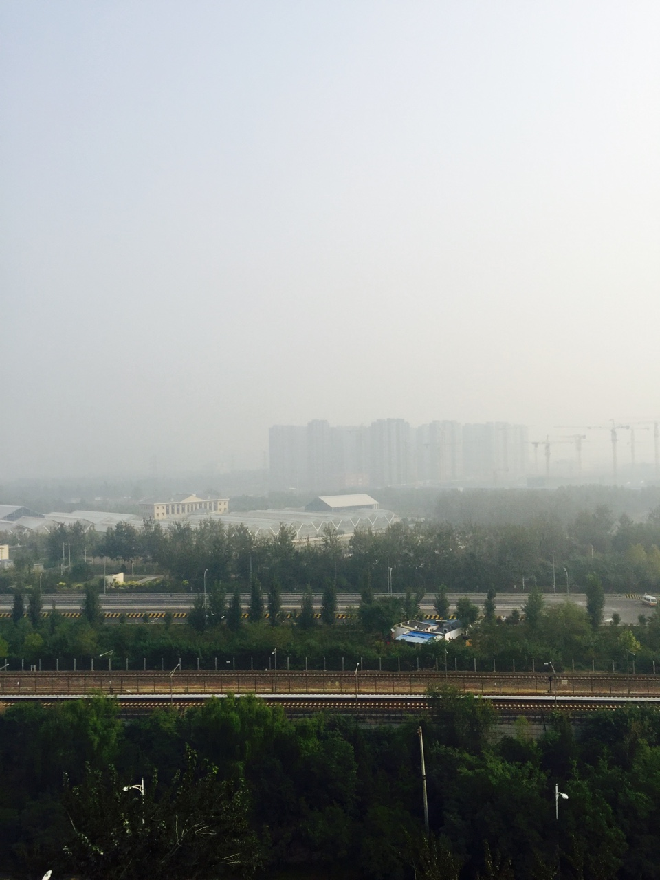 Fog and smog seem to be interchangeable words here in Beijing, so let me make this clear. ^This is smog around 300 on the API