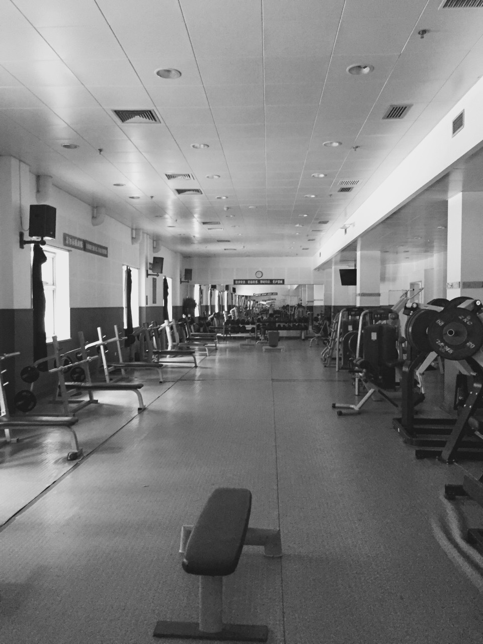 Guy tells me gym is closed. I nod my head, sneak into the closed door, and enjoyed a workout in absolute silence