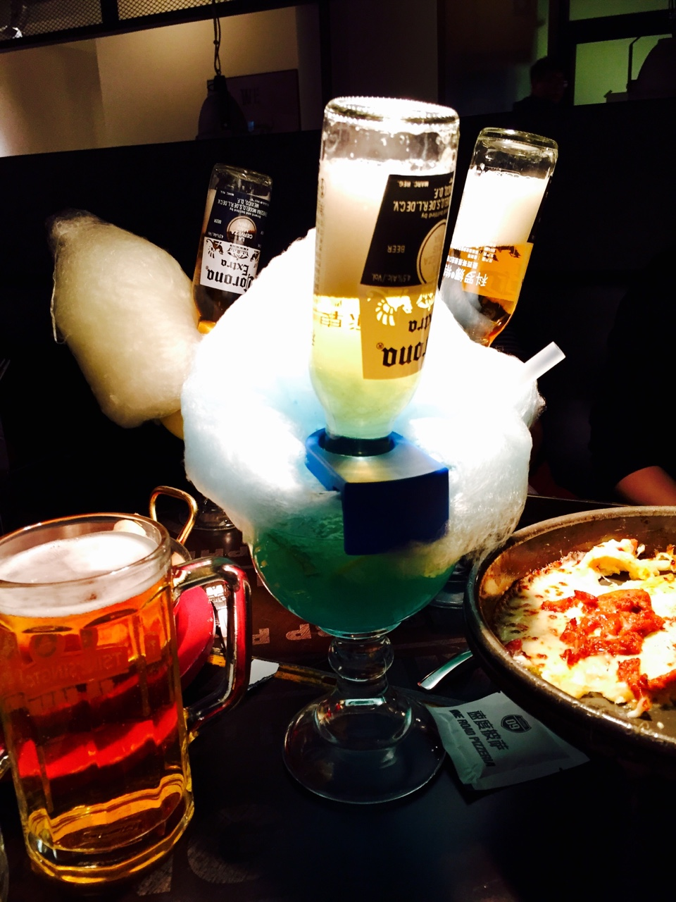 Coronarita with cotton candy. It was like drinking syrup mixed with a pixie stick
