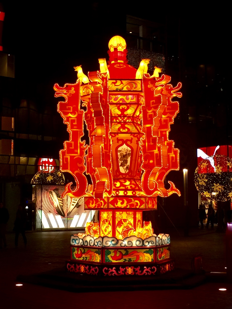 Newest installment in the Sanlitun Village. For those who can't tell, it's a giant lantern for Spring Festival. Headed to France tomorrow night and then Munich the day after. Happy holidays from China!