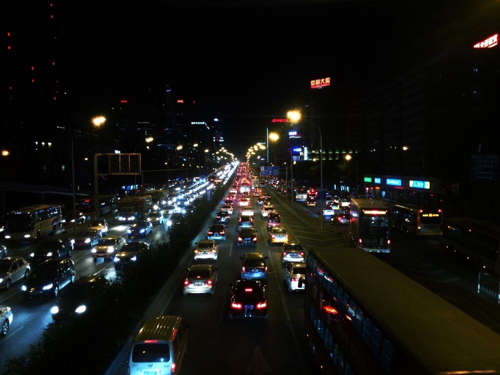 Beijing traffic is nonstop