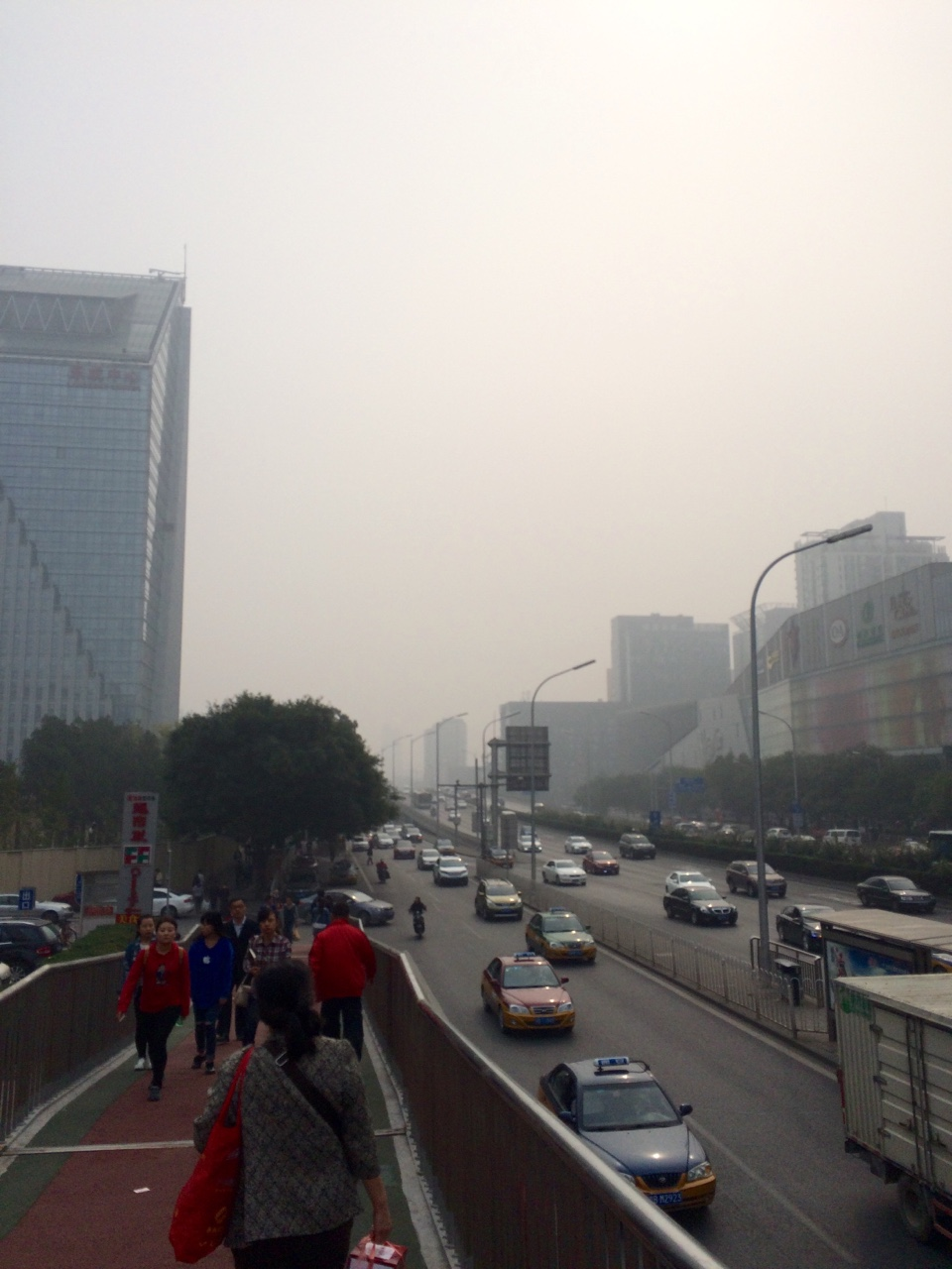 The smog is back and this is considered 'better' from what it has been