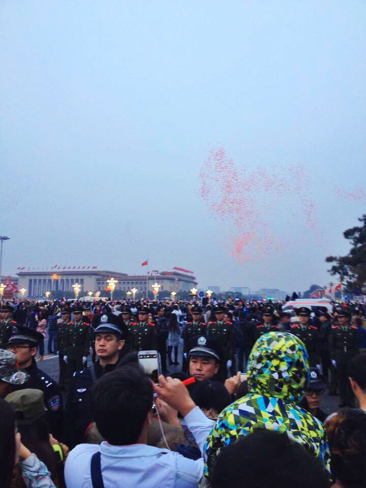 Celebration in Tiananmen Square for Chinese National holiday