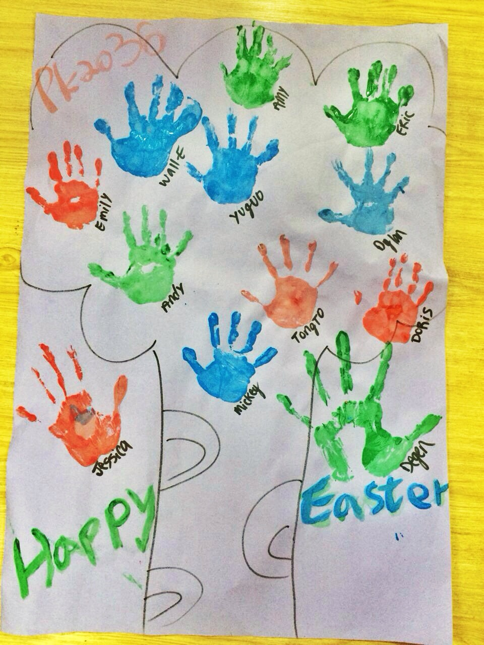 Happy belated Easter! And yes, I named one of my kids 'Wall-E' spelled with a '-'