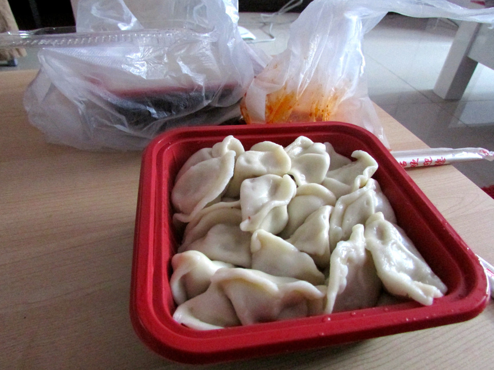 Chinese dumplings, from China. WHADUP?!   They're probably the tastiest little things I have tried since being in Beijing.