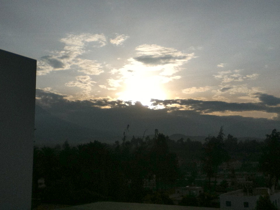 What would a blog be without a 6:30am Peruvian sunrise photo?