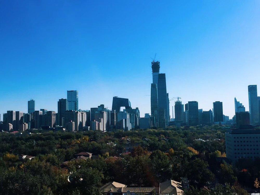 Beijing skyline in china