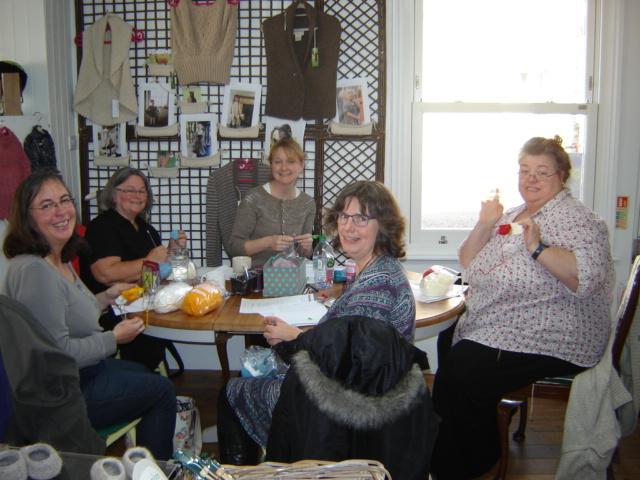 Teaching at The Sheep Shop - Copyright Sarah Clarke