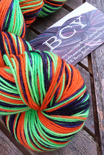 Fabulous Halloween-themed sock yarn from Berry Colorful Yarnings