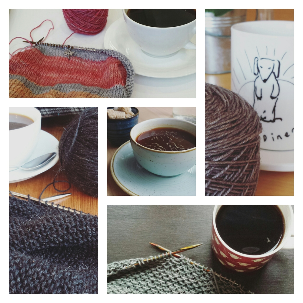 Never knowingly undercaffeinated: #coffeeandknitting
