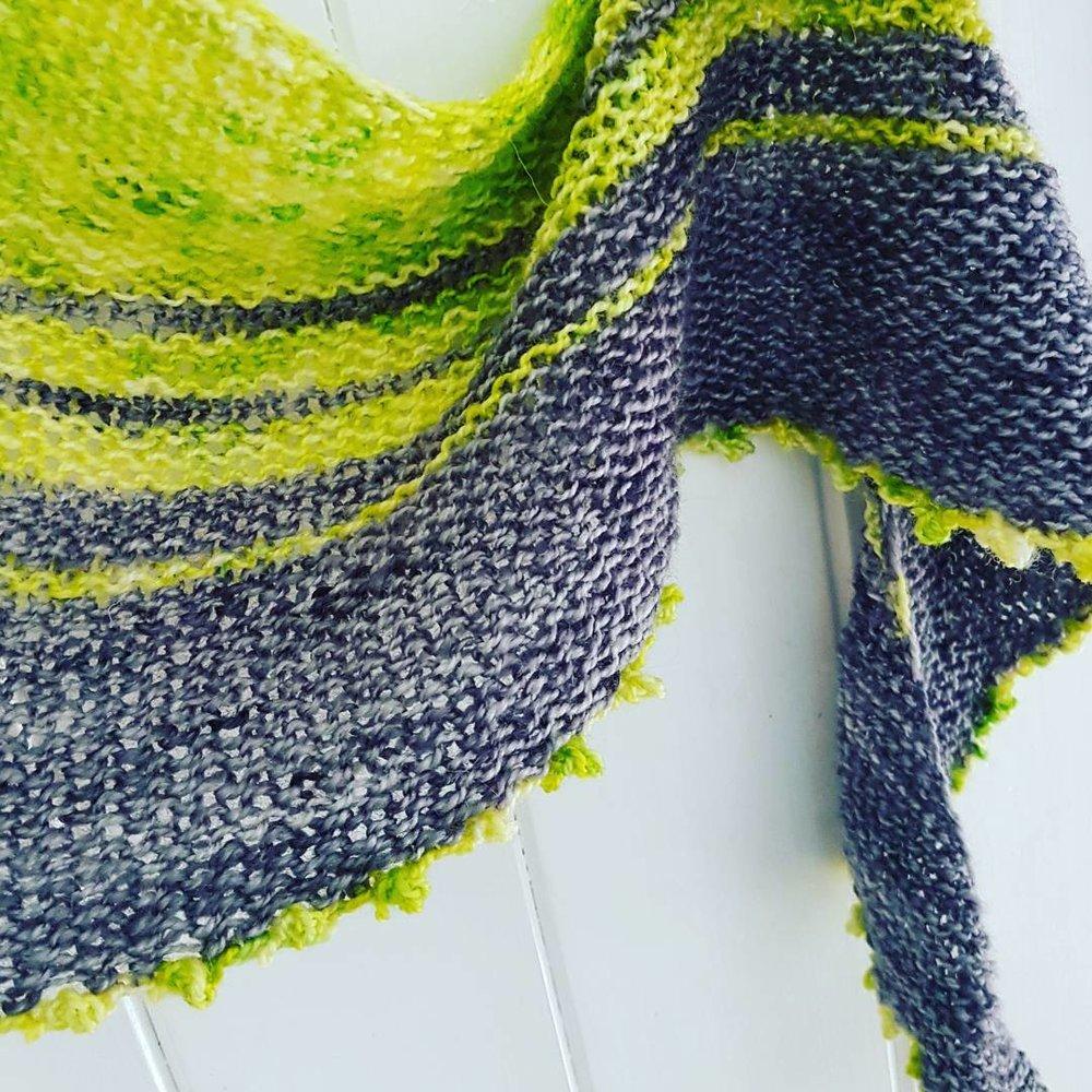 Fuss Free Festival Shawl in yarn from Countess Ablaze