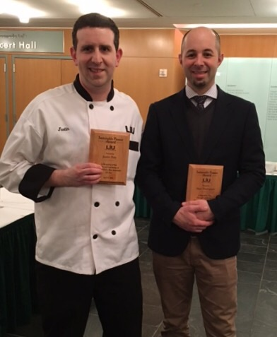 Chef Justin Poly and Chef Matthew Thompson, Recipients of the Sustainable Pioneer Awards, April 2016