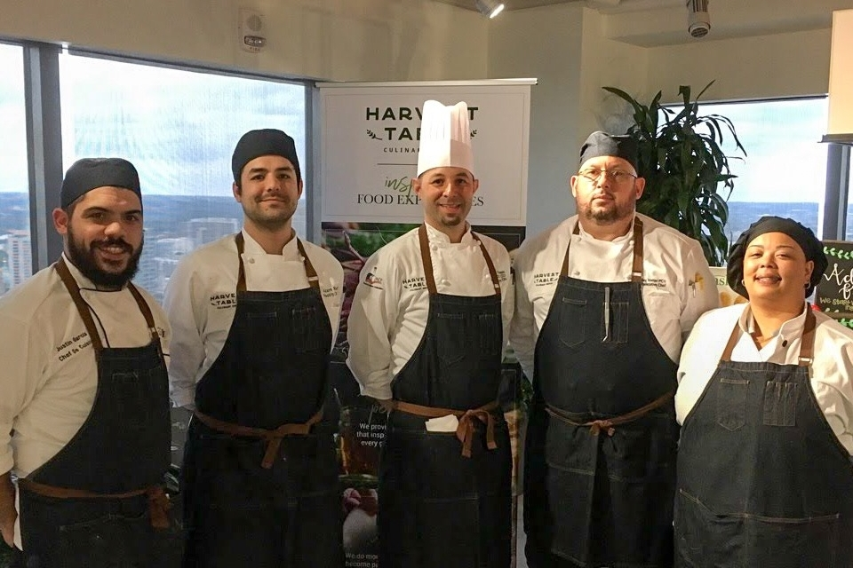 Chefs Justin Garcia, Adam Neill, Matthew Thompson, Jay Vetter & Candice Lawson