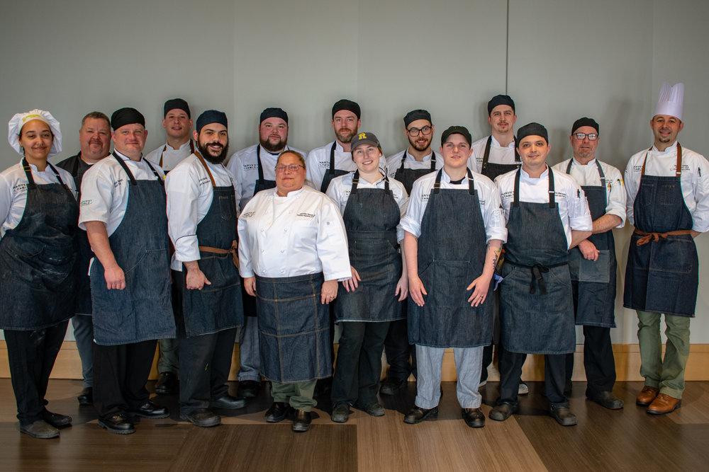 Harvest Table Culinary Group Chef's Council: Chefs Adrianna, Richard, Patrick, Tony, Justin, Matt, Jennifer, Brian, Cait, Jeff, Amber, Jay, Eric, Ron and Matthew.