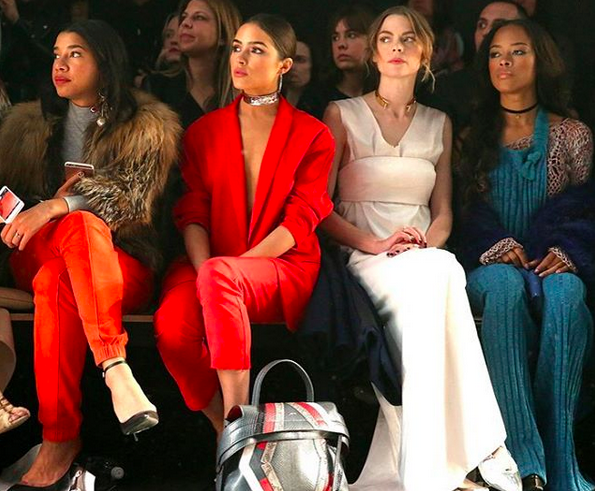 Hannah Bronfman, Olivia Culpo, Jaime King &Serayah McNeill all in Spring '16 sitting front row at our Fall '16 Show.