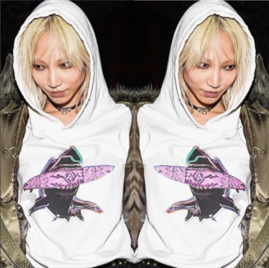 "Soo Joo thriving in our ""PSYCHEDELIC SHARK"" hoodie."
