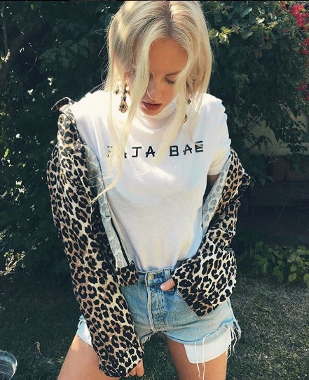 Shea slaying in our Baja Bae tee.