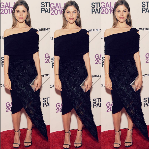 Emily Weiss glowing in our drop waist Moroccan drape dress.