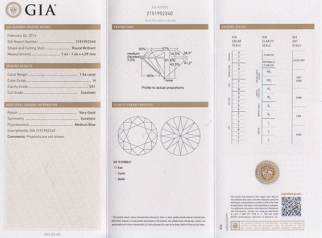 Diamond certification h a jewelry gia diamond grading reports xflitez Image collections