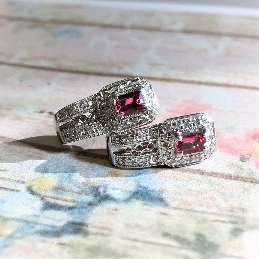 Embrace your love's passionate nature and give the gift of rubies or pink topaz. Their rich and bold coloring is a constant reminder of the passionate love you two share. Accent these fine stones with diamonds and you'll be taking her breath away again and again.
