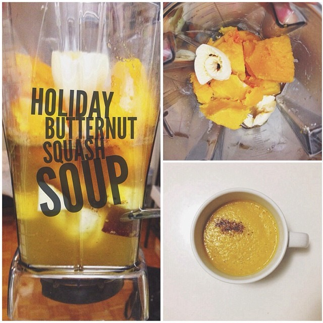 Holiday Butternut squash soup