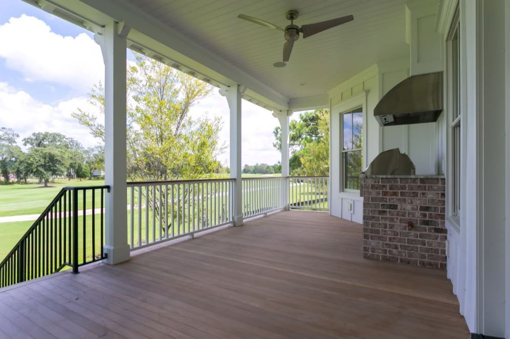 Entertain on your back Porch/Veranda with guests, using your outdoor kitchen/cooker.