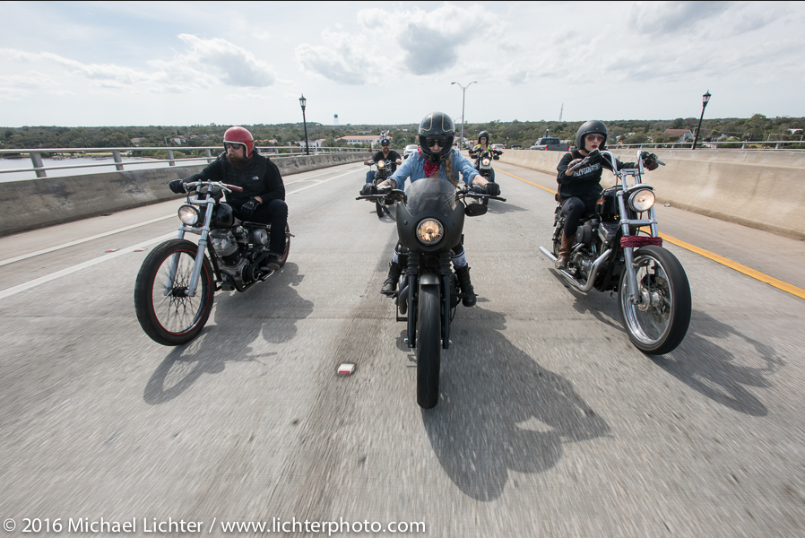 Iron Lilies Shot by Michael Lichter during Daytona Bike Week for Easyriders Magazine
