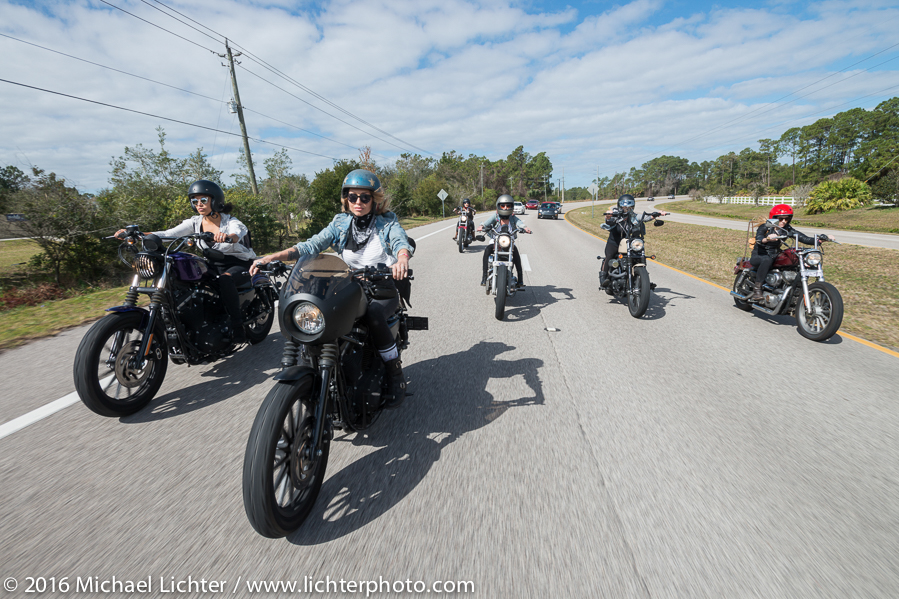 Harley Davidson MDA ride with The Iron Lilies and Karen Davidson shot by Michael Lichter