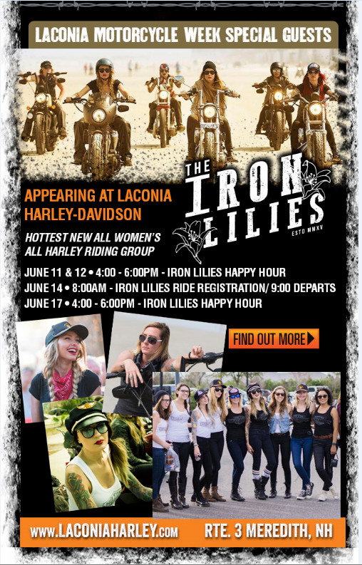 Iron Lilies and Laconia  Harley