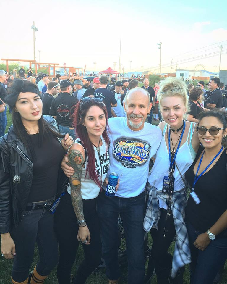 "Kissa, Sarah, Michael, Leticia, & Sam at ""Motorcycles As Art"" Skin & Bones Opening Party."