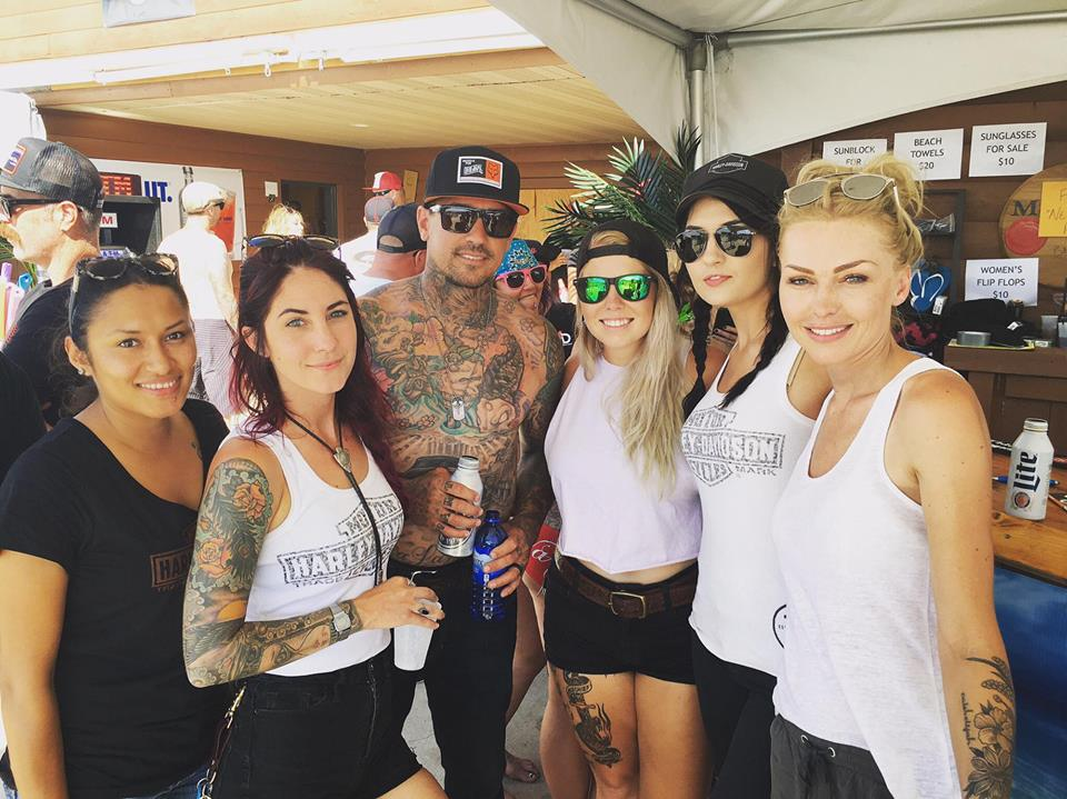 At the Bell Helmets Pool Party with our buddies Carey Hart and Staci Wilt.