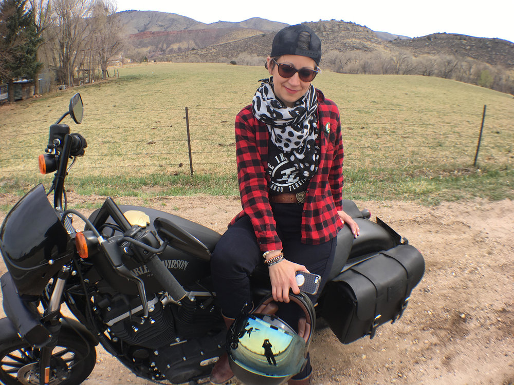 Bethany Milligan:  Fort Collins, CO  2013 Harley-Davidson Iron 883 Instagram: @rockit883