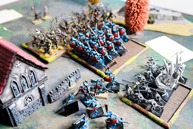 warhammer-fantasy-battle-report-lizardmen-vs-wood-elves-saurus-almost-run