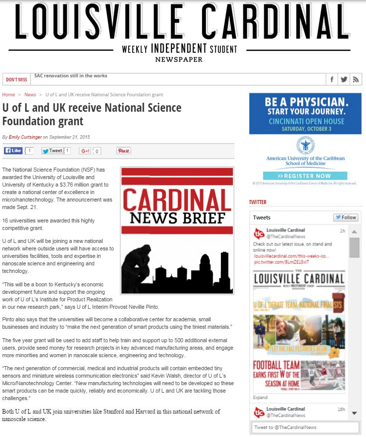 Louisville Cardinal Award Article.JPG