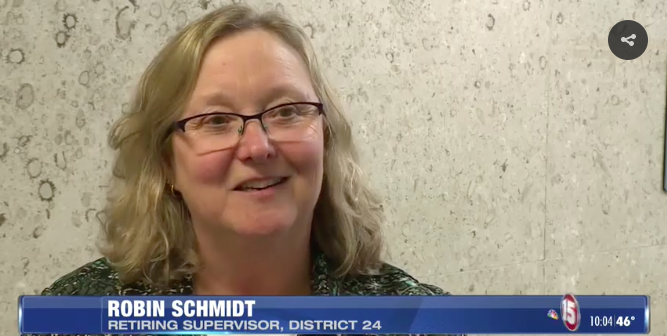 District 24 Retiring Supervisor, Robin Schmidt
