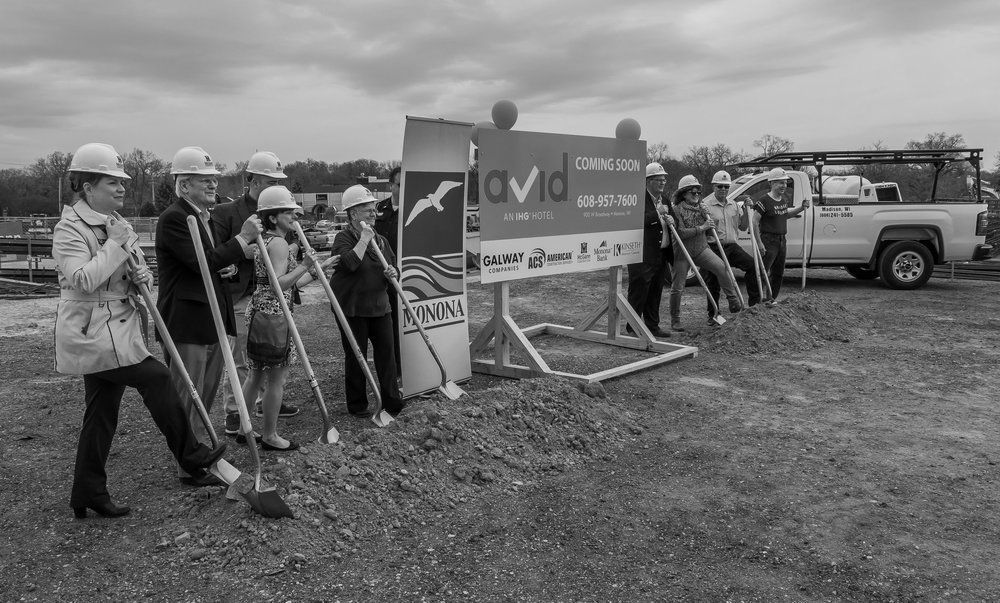May 1, Golden shovels to celebrate the groundbreaking of the Monona Riverfront