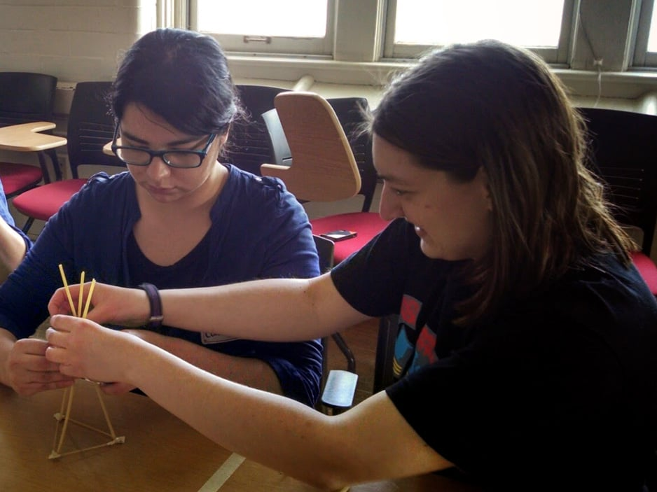 The MARSHMALLOW CHALLENGE, A MENTAL BREAK FROM THE DIFFICULT DESIGN CHALLENGE