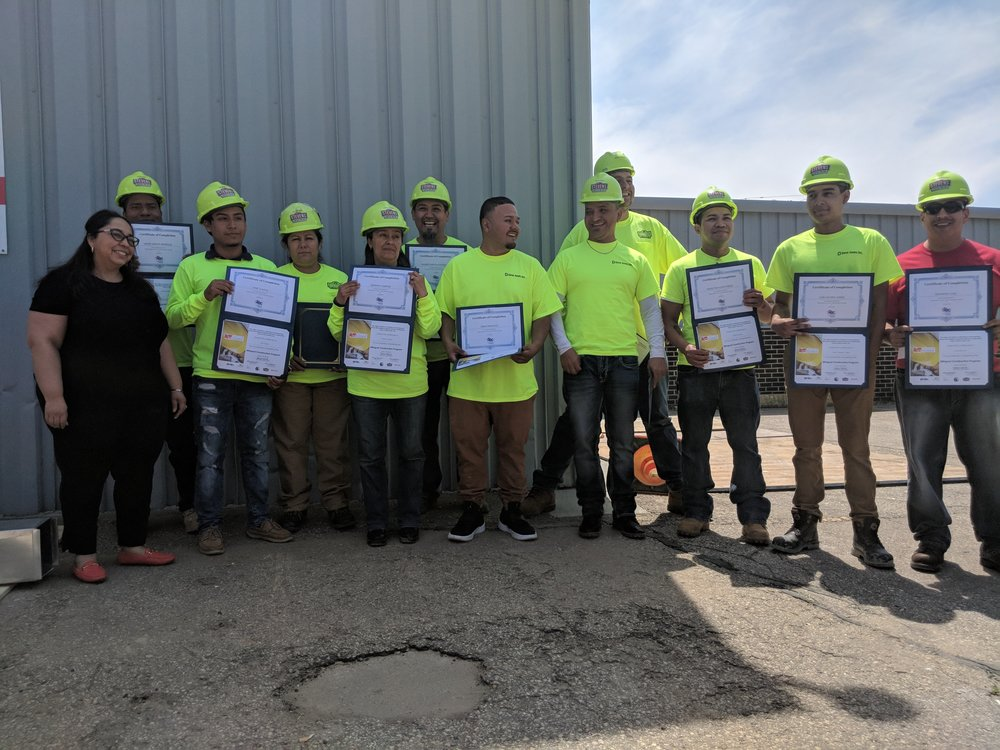 2018 Spring Bilingual Construction Graduates