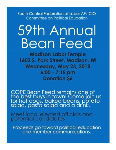 SCFL Bean Feed, fundraiser for cope