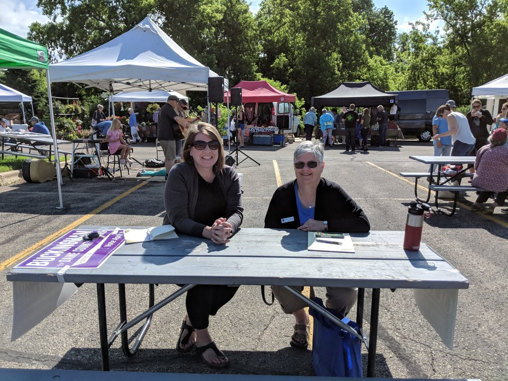 Sunday morning office hours at the Monona Farmers' Market with Mayor O'Connor