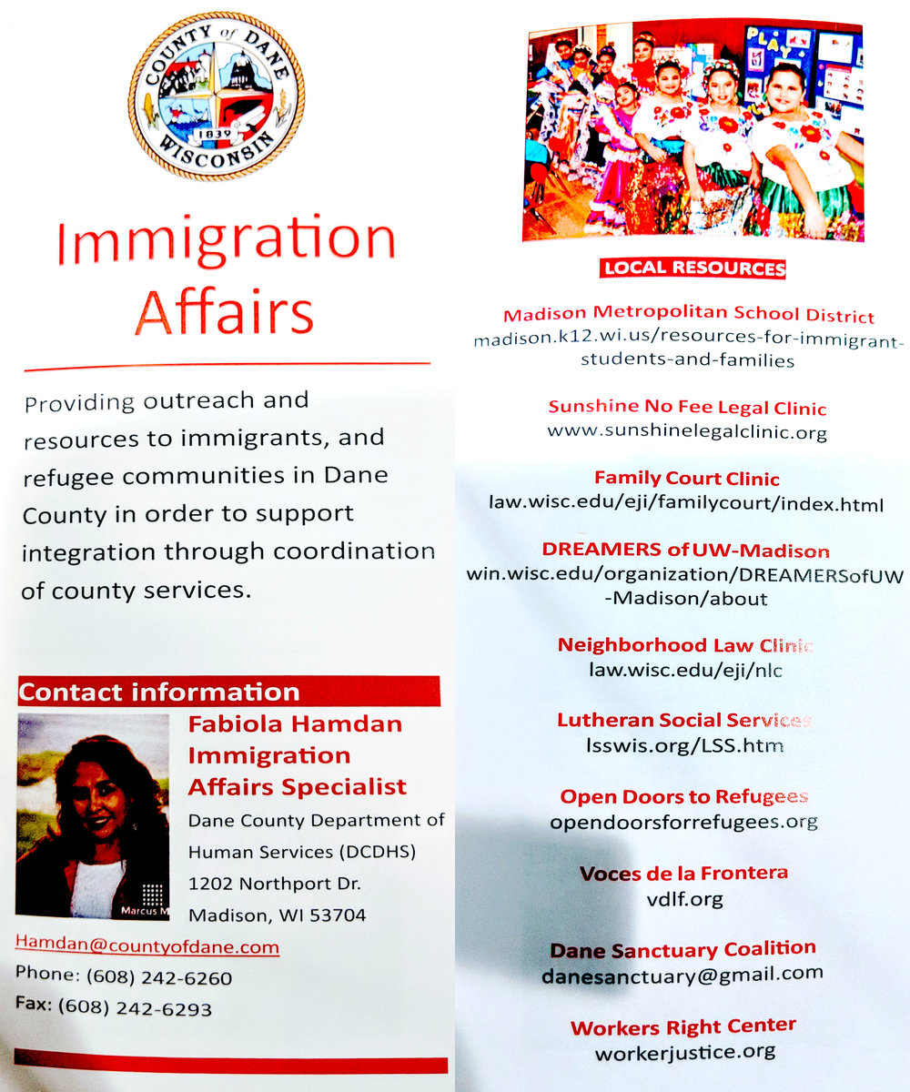 Dane County Immigration Affairs and other resources