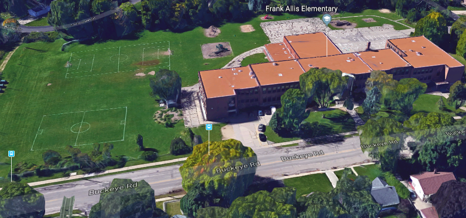 Screenshot, google maps - Allis school
