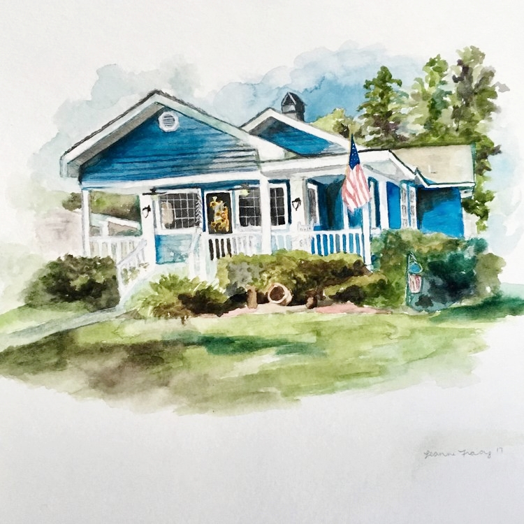 Exteriors - Is there a place that is particularly special to you? Contact the artist for an original painting of a house, building, or church exterior.