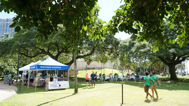 Catered lunch from Hale Koa Hotel provided by Wounded Warrior Ohana and Wounded Warrior Project.