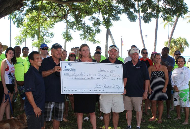 Thank you Tracy Walker, Hilton Hawaiian Village and staff for your generous donation.