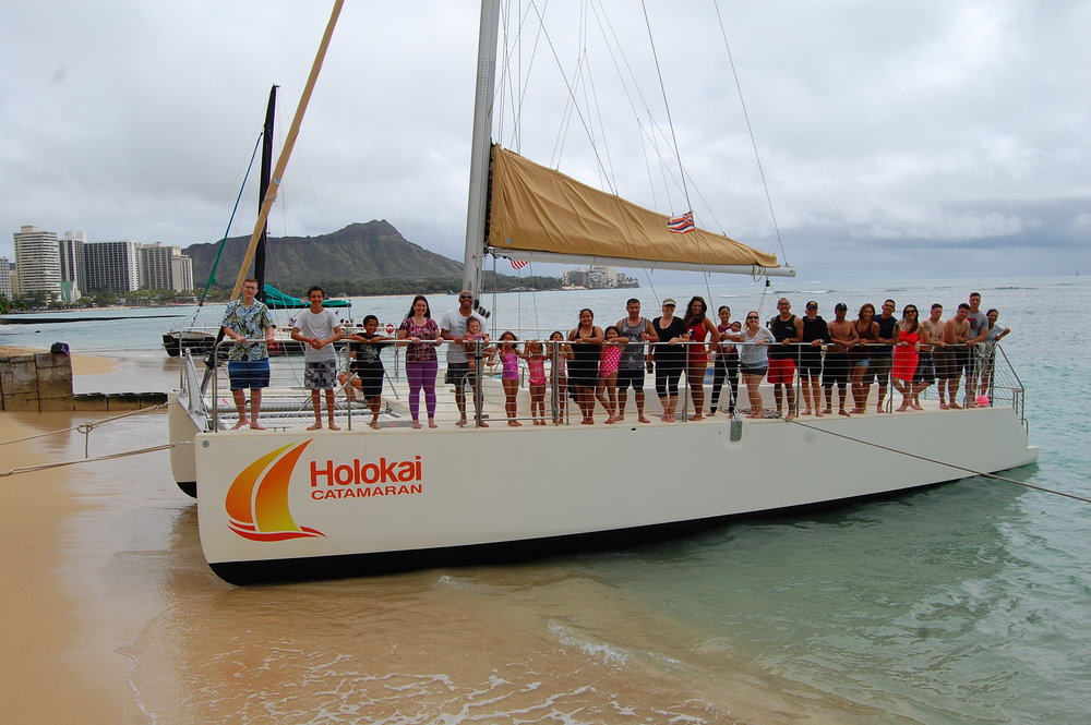 MAHALO to Holokai Catamarans.  Photo courtesy of Beach Boy Photography.